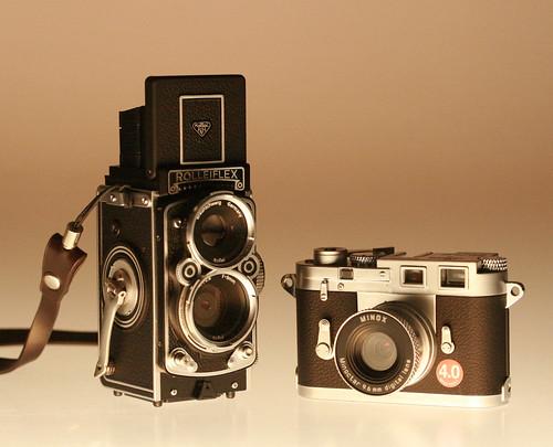 Rolleiflex MiniDigi & Minox Digital Classic Camera Leica M3