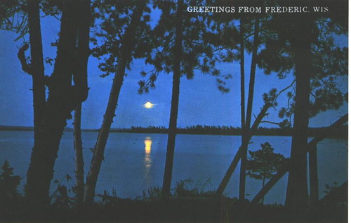 Wisconsin - Sets Moonlit Lake B