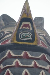 Overbite (cwgoodroe) Tags: bear park wood sculpture art digital oakland bay eyes colorful paint bright eagle pentax native hawk d totem carving historic nativeamerican area totempole ist