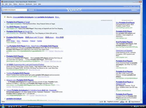 New Yahoo Search Interface