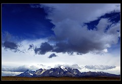 Drama in the Paine Towers (MarcoIE) Tags: world chile travel viaje blue sky panorama patagonia snow mountains color tourism southamerica sports nature beauty clouds living amazing colorful outdoor hiking happiness bluesky panoramic adventure viajes torresdelpaine wilderness 169 turismo adrenaline gettyimages paine puertonatales pristine wideview puntaarenas destinations nikonstunninggallery abigfave artlibre superaplus aplusphoto utata:color=black utata:project=uplandscape eyecatchy southoftheworld
