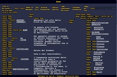 Cattura di schermo del sito bellinzona.ch visto con Opera in modalità browser testuale