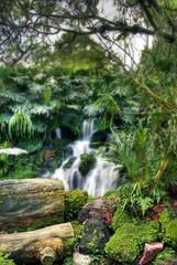 Mini Waterfall (DanielKHC) Tags: green water garden waterfall interestingness singapore rocks sony moth explore botanic alpha hdr orton a100 naturesfinest 3xp photomatix tonemapped sigma18200mm interestingness408 i500 25faves danielcheong raziks20 hdrmeetsorton hdrenfrancais favoritegarden explore21jan07 danielkhc