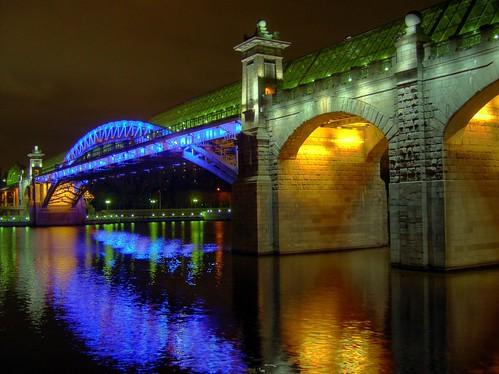 Night Bridge in blue
