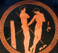 Athlets prepairing for competitions. (AFIK  BERLIN) Tags: berlin altesmuseum museumsinsel greekart