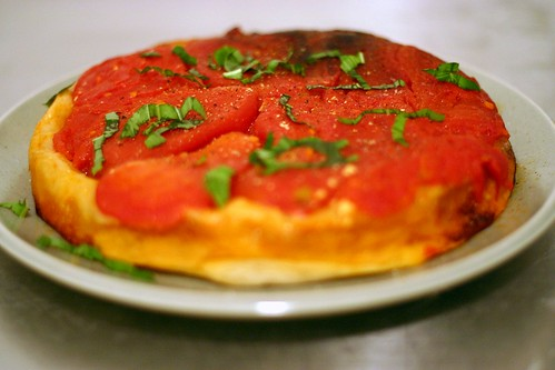 i tried to make a tomato tarte tatin