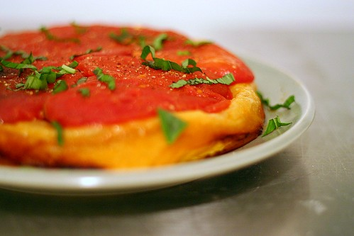 tomato tarte tatin, attempt