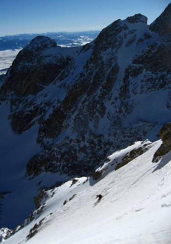 Skiing the Chouinard Couloir