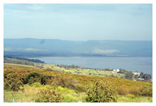 Sea of Galilee from the Mount of Beatitudes