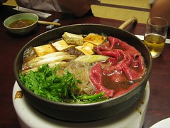 Sukiyaki. Photo by Mari.