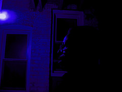 Blue (Michael DaKidd) Tags: blue shadow portrait art me self canon outside solitude mood alone darkness panasonic dslr backporch dmcfz20 artlibre