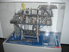 Model of oil rig