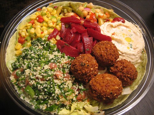 365 days of dinner, day 32: falafel chef's salad