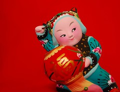 Spring Festival is coming! (NowJustNic) Tags: china red home catchycolors ceramic nikon published child beijing chinesenewyear newyear clay fu  lantern   figurine tianjin lunarnewyear   springfestival chunjie   niren   yearofthepig haidiandistrict clayfigurine d80 nikkor18135mm tianjinniren dongwangzhuang ceramicsiown