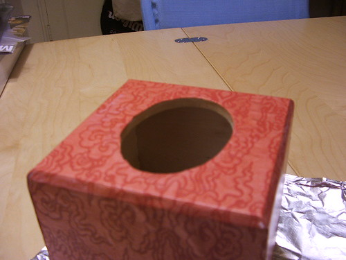 decoupaged tissue box