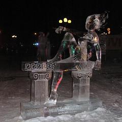 Ice Sculpture (Mans Pasts) Tags: sculpture ice jelgava