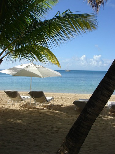 Playa privada del hotel Carlisle Bay