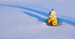 Shadowed Hydrant in Snow (Bob.Fornal) Tags: shadow white snow green yellow hydrant fire shadows searchthebest abigfave anawesomeshot impressedbeauty goldenphotographer