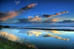 Hungry Alligators (flopper) Tags: sunset water clouds reflections bay sanfranciscobay fremontca blueribbonwinner interestingness5 flopper anawesomeshot flickrplatinum