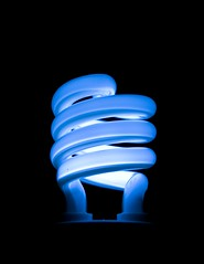 Luminous Idea (Tiago Daniel) Tags: blue light black lamp bulb spiral idea fluorescent electricity jpg minimalism breakthrough minimalistic minimalist compact