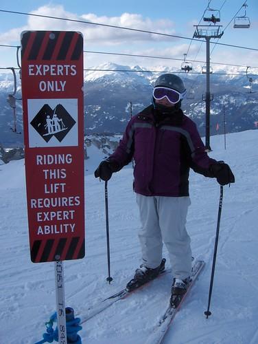 expert skiier