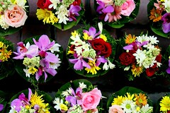 bunga-bunga (Farl) Tags: travel flowers bali flower colors indonesia market culture bouquet bunga bouquets denpasar