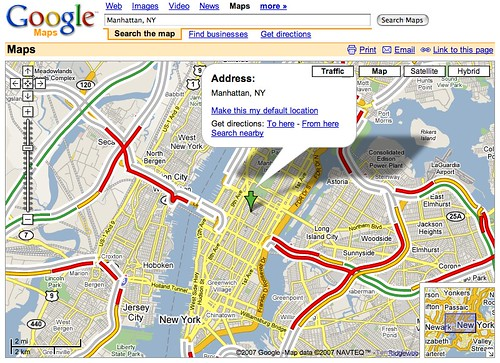 Google Traffic - Manhattan, NY - Google Maps (20070228)