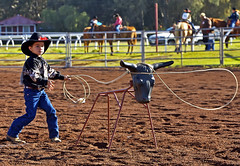 Dummy Ropin' (Bill Adams) Tags: sports hawaii cowboy published waimea bigisland kamuela paniolo parkerranch kamaaina nhn canonef70200mmf28lisusm keikirodeo dummyroping