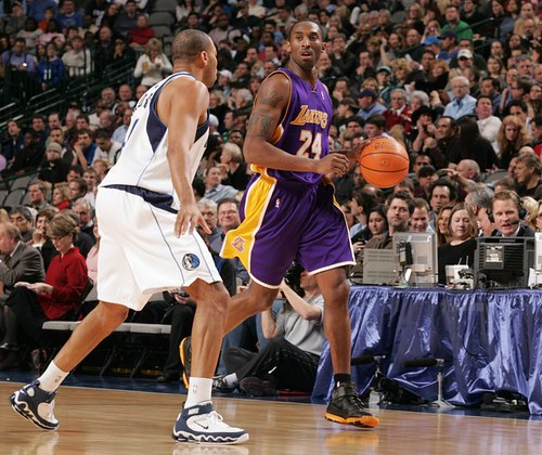 Kobe Bryant of the Los Angeles Lakers.  Image provided by MEMPHISOS on Flickr.com