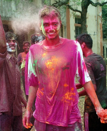 Me colored during holi festival