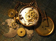 Watch (geo3pea) Tags: old time watch wheels inner timepiece cogs brass pocketwatch challengeyouwinner