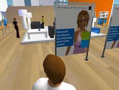Vacaturebord voor Second Life-baan