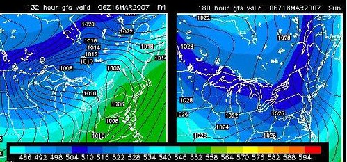 GFS Model Projection for Sun 3-18