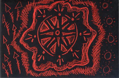 Red Black Doodle
