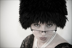 Me by Brian Miller (Shemer) Tags: portrait woman me face glasses necklace brian pearls purim wig