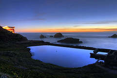 Sutro Baths (Oldvidhead) Tags: sf sanfrancisco california longexposure nightphotography blue sunset evening twilight nikon ruins bravo pacific dusk sutrobaths sutro bluehour d200 nikondigital hdr magichour 2007 cliffhouse sealrock ericlarson photomatix nikond200 spectnight subtlehdr oldvidhead photomatixhdr elarson