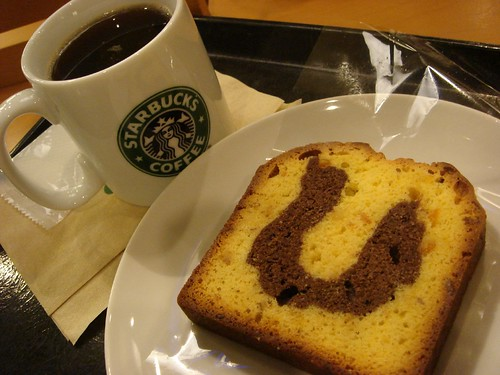 pound cake and coffee