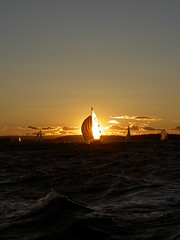 Sailboat in the sunset (Yngve Thoresen) Tags: ocean sunset sailboat boat sailing sail