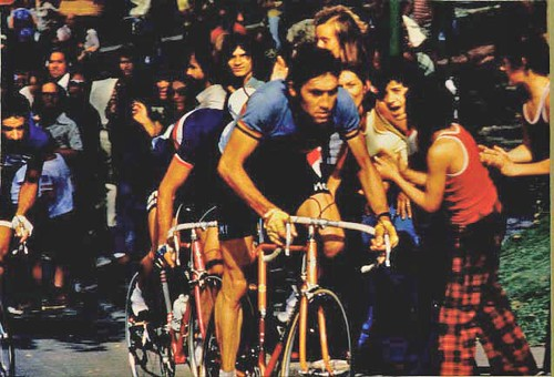 Eddy Merckx on Mount Royal Montreal Canada August 25, 1974 World Championship Road Race