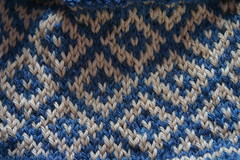 Fair Isle hat close up