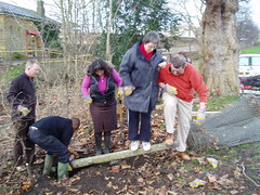 Removing posts in Laywell Fields (Cllr Chris Best) Tags: lewisham volunteering recycling composting