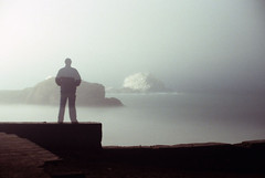 Foggy Night, Sutro Baths Ruins, San Francisco 1985 (Sharper24) Tags: sanfrancisco leica fog night surrealism timeexposures beautyisintheeyeofthebeholder sutrobathsruins steveharper impressedbeauty mamiyarb6x7pro sharper24