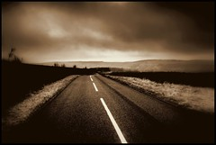 Lost Highway (andrewlee1967) Tags: road uk england blackandwhite bw monochrome sepia landscape mono bravo andrewlee strinesmoor canon400d andrewlee1967 webflexxthinksitsawesome andylee1967 focusman5