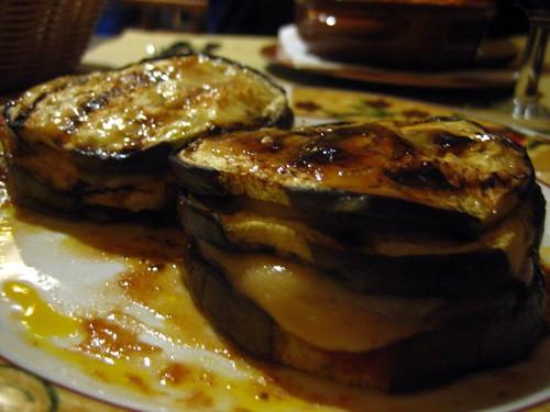 An eggplant napoleon (Napoleone di Melanzane?)