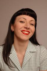 Lenka (Vina the Great) Tags: woman girl smiling studio makeup 1950s rocknroll lenka
