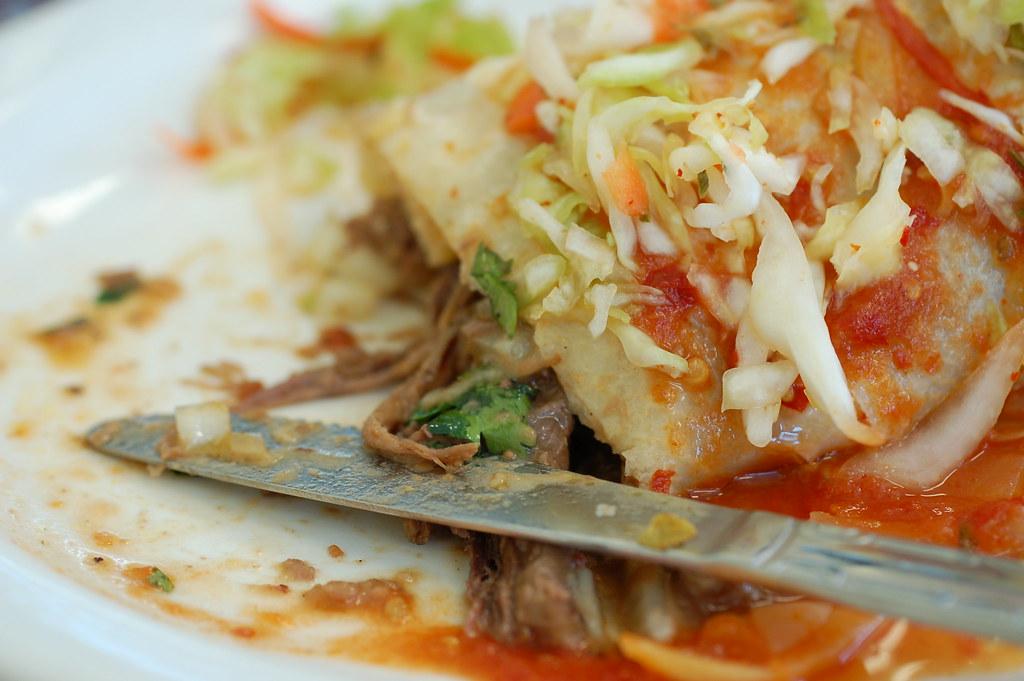 Christian's shredded beef burrito