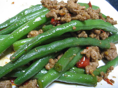 japanese-style green beans with pork
