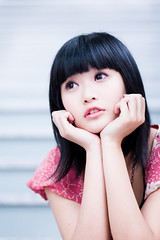 Akina (swanky) Tags: portrait people woman cute girl beautiful beauty face canon asian eos md model women asia pretty sweet femme taiwan 85mm babe belle taipei   taiwanese 2007   30d   dcview  akina      canonef85mmf18usm       emiruemirue mtv mtv ak