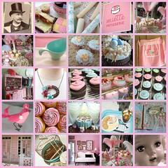 some of the sweetest bits of Flickr eye candy ever! (holiday_jenny) Tags: pink blue wallpaper house bird cake shop vintage toys cupcakes store fdsflickrtoys aqua doll flickr pretty nest tea antique room cage apron patisserie boutique tophat eggs creamer miette