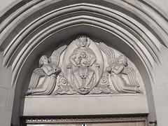 Detail: Arch, Our Lady Queen of Angels Roman Catholic Church--Detroit MI (pinehurst19475) Tags: sculpture church arch detroit stonecarving angels catholicchurch ourladyqueenofangels wingedfigures martinstreet sculpturalrelief 4200martin